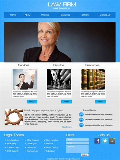 psd   law firm web template