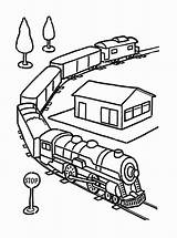 Train Coloring Toy Electric Railroad Drawing Pages Colouring Printable Colorluna Getdrawings Sheets Getcolorings sketch template