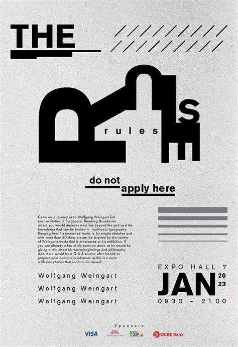 typography poster wolfgang weingart on behance