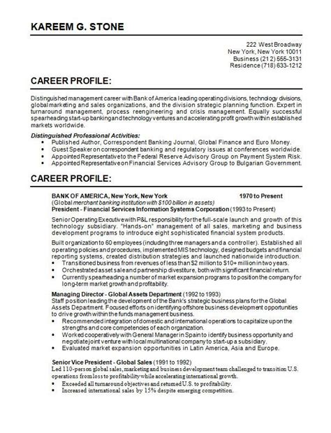 bank of resume for international employers center