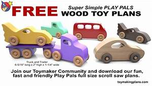 Wood Toy Plans - 5 FREE PATTERNS - YouTube