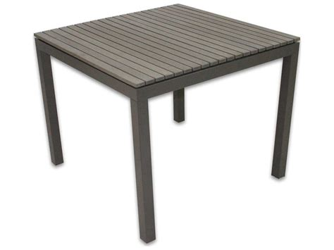 patio heaven riviera aluminum 35 5 square dining table
