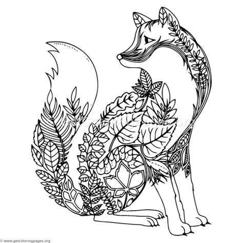 zentangle wolf coloring pages getcoloringpagesorg