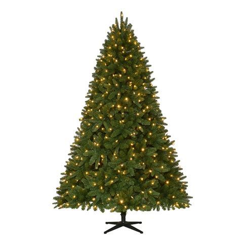 7 5 ft christmas tree with 1000 lights home accents holiday 7 5 ft pre lit led sierra nevada
