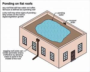 Drainage Options For Ponding Water On Flat Roofs