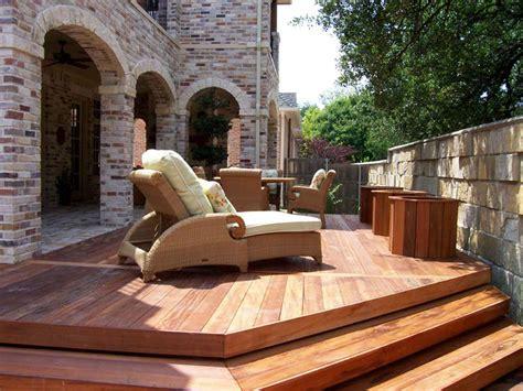 Backyard Deck Plans by Wood Patio Decking Buildipedia