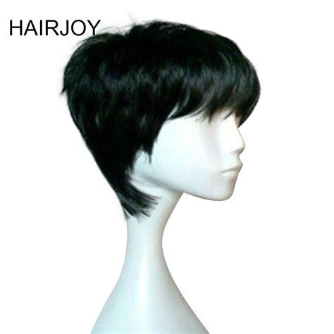Hairjoy Woman Pixie Hairstyle Black Brown Blonde Purple 6