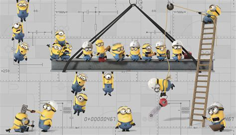 minions  prepasted wallpaper mural  despicable