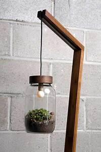 Contemporary floor lamp blending lighting design and glass for Diy glass floor lamp