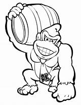 Coloring Donkey Kong Pages Popular sketch template