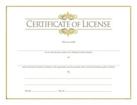 ministers license certificate ordination christian