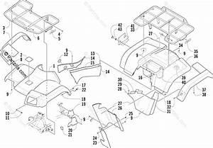 Arctic Cat Atv 2004 Oem Parts Diagram For Body Panel