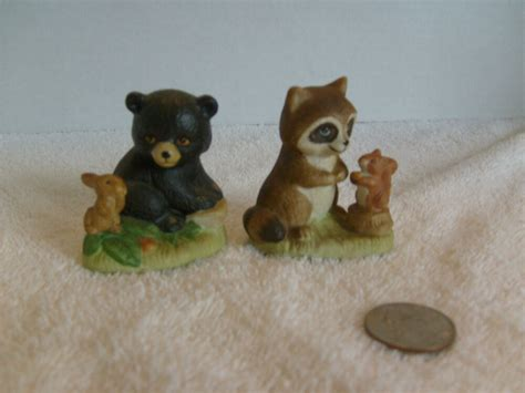 Home Interior Bear Pictures : Home Interior Racoon And Bear Figurines Cute # 1418