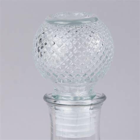Dekoflasche Flacon Strukturierte Oberfläche Rautenmuster