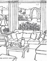 Coloring Pages Drawing Living Rooms Adults Perspective Drawings Adult Colouring Point Christmas Casa Colorir Img406 Para Fredgonsowskigardenhome Printable Adultos Sheets sketch template