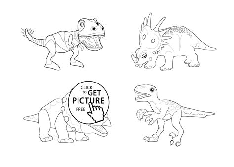 Dinosaur Train Collection Coloring Page For Kids
