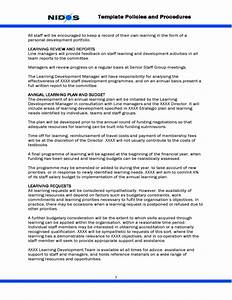 template staff learning and development policy free download With staff policy template