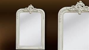 Miroir Blanc Baroque : miroir el gance de style ancien noir et or ~ Teatrodelosmanantiales.com Idées de Décoration