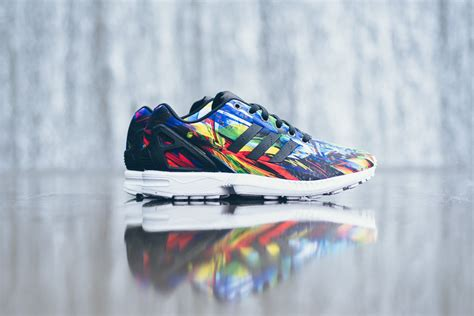 adidas zx flux  printed  wild colors sole collector