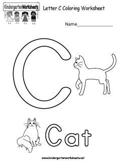 letter  coloring worksheet  images kindergarten