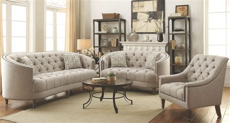 Avonlea Stone Grey Living Room Set From Coaster Coleman