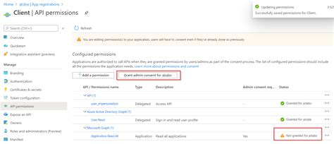 azure msal js authentication react aad screen permissions grant application were need open added