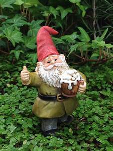 Miniature Dollhouse FAIRY GARDEN ~ Cheers Gnome Drinking