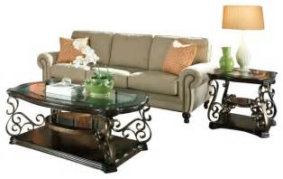 standard furniture seville 3 piece coffee table set with