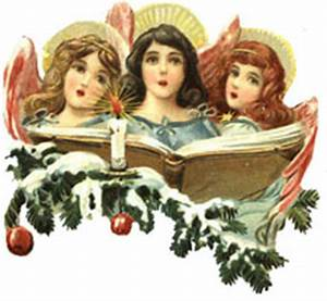 Free Vintage Angels Christmas Clipart