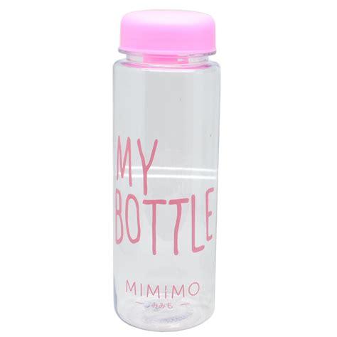 my bottle pink botol minum botol minum plastik bening juice lemon my bottle 500ml