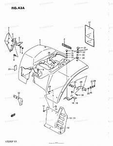 Suzuki Atv 1993 Oem Parts Diagram For Rear Fender  Model M