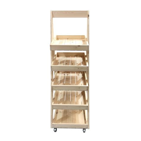 Mobile Display Stands by Mobile Rustic 5 Tier Slanted Wooden A Frame Display Stand