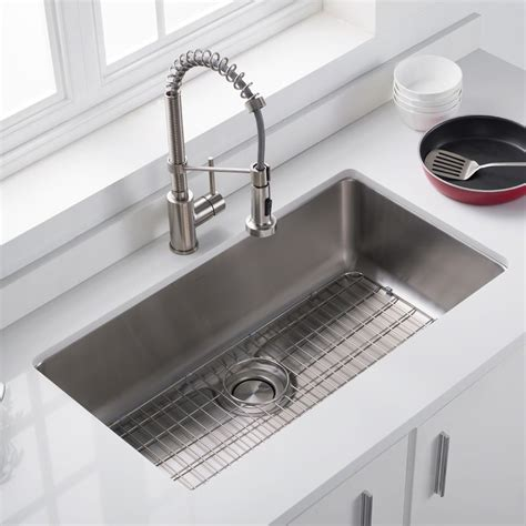 stainless steel kitchen sink kraus bg3117 33 inch stainless steel kitchen sink bottom 8813