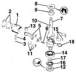 Evinrude 1987 4 - E4rlcud  Crankshaft  U0026 Piston