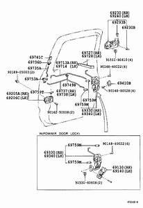 Toyota Tacoma Door Lock Rod Bracket  Bellcrank  Door Lock