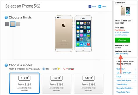 apple resumes in personal option for iphone 5s