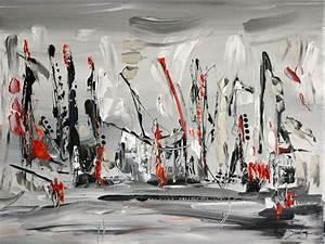 Tableau Moderne Noir Et Blanc : charming tableau abstrait noir et blanc 5 tableau abstrait noir et blanc en relief peinture ~ Teatrodelosmanantiales.com Idées de Décoration