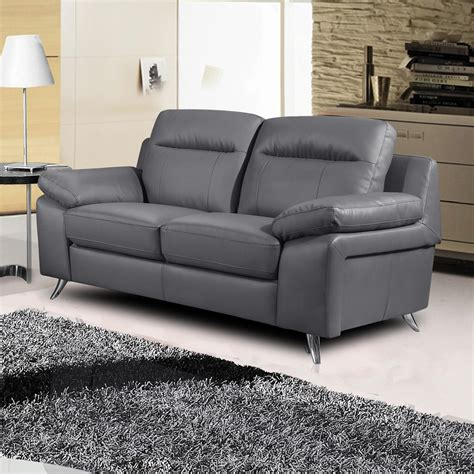 Grey Sofa by Nuvola Italian Inspired Leather Grey Sofa Collection