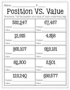 place  chart images place values