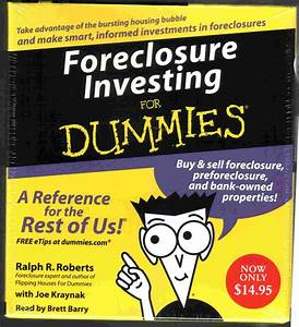 Foreclosure Investing For Dummies By Ralph R  Roberts  New
