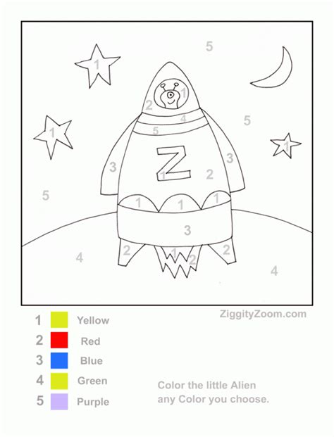 coloring pages easy paint by number printable preschool