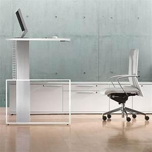 Elektrisch Höhenverstellbarer Schreibtisch : h henverstellbarer schreibtisch leuwico ~ Markanthonyermac.com Haus und Dekorationen
