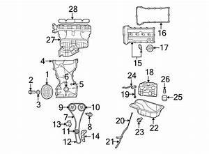 Chrysler Sebring Engine Timing Cover  Liter  Bearings