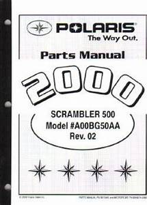 2000 Polaris Scrambler 500 4x4 Parts Manual