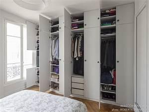 Chambre Dressing : un dressing blanc fonctionel qui rentre dans une chambre ~ Voncanada.com Idées de Décoration