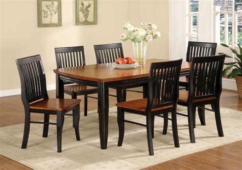 black dining room table and chairs black and brown painted oak mission style dining room set