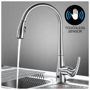 touchless kitchen faucet reviews touchless kitchen faucet with sensor activated pull sprayer rakuten