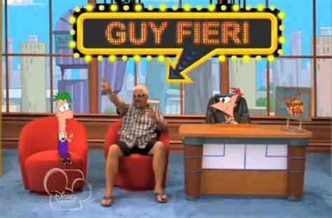 foodista guy fieri visits phineas  ferb