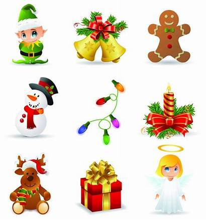 Christmas Clip Clipart Icons Vector Elements Cliparts