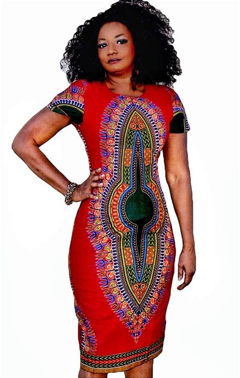 alaya african print dashiki midi dress
